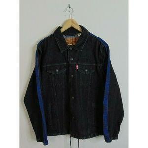 New Levi's L Premium Denim Jean Jacket Black